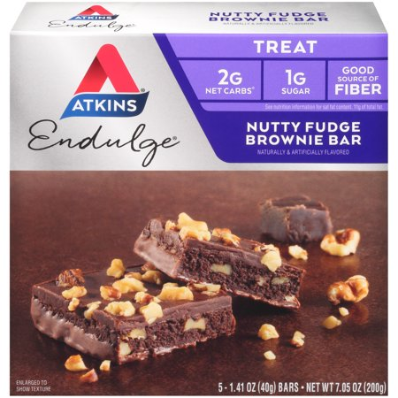 Image of Atkins Endulge Nutty Fudge Brownie Bars 5-pack