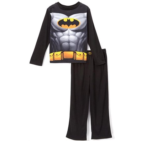 DC Comics Little Boys' Black Batman Pajama Set with Cape, Black, Size: - Batman Pajamas Adults