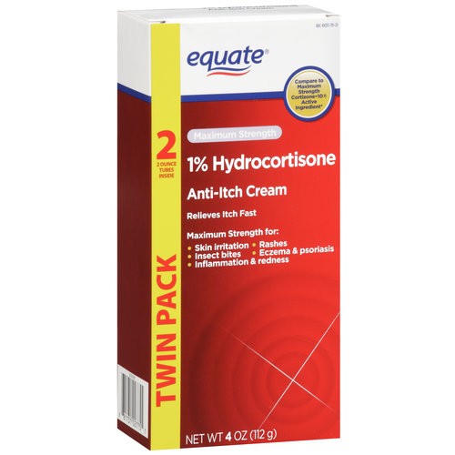 Equate Maximum Strength Anti-Itch Cream, 4 oz, 2ct