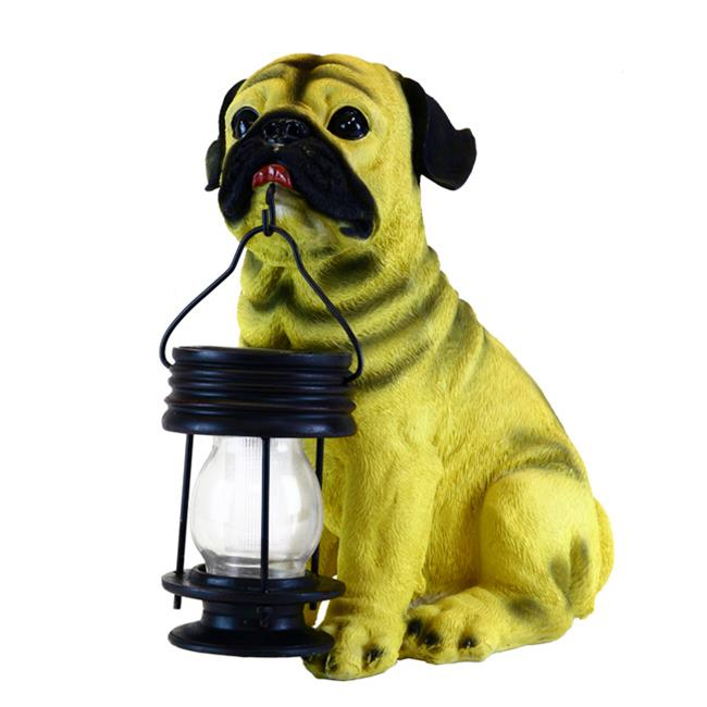 Garden Sun Light B5196 Pug Dog With Lantern Solar Light