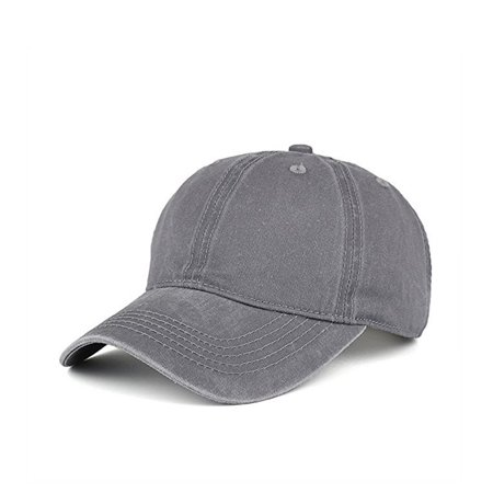 PaZinger Vintage Washed Dyed Cotton Twill Low Profile Adjustable Baseball Cap