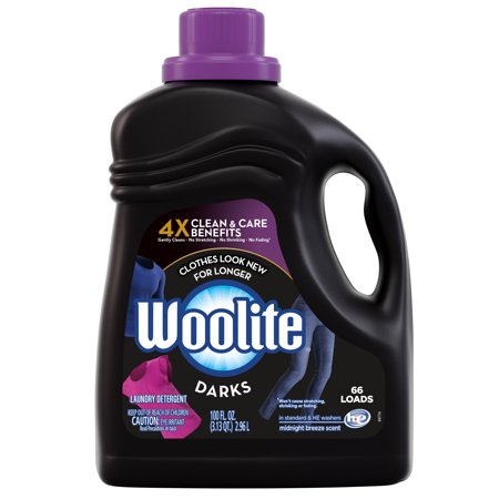 Woolite DARKS Liquid Laundry Detergent, 100oz Bottle, With Color Renew, HE & Regular (Ok To Use He Detergent In Regular Washer)