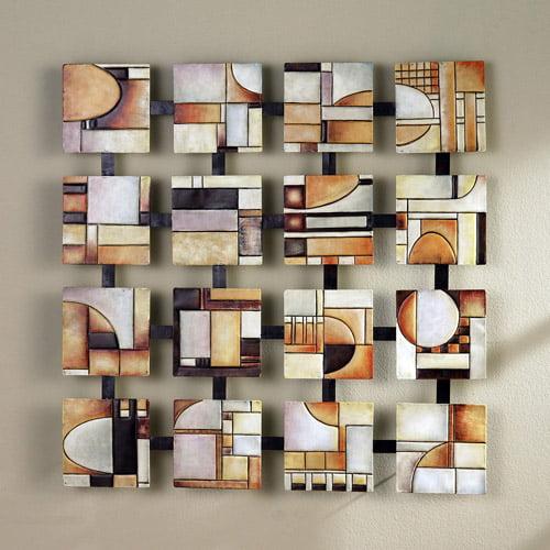 Southern Enterprises Geometric Squares Wall Art