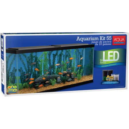 Aqua Culture Aquarium Starter Kit with LED, 55-Gallon by Generic