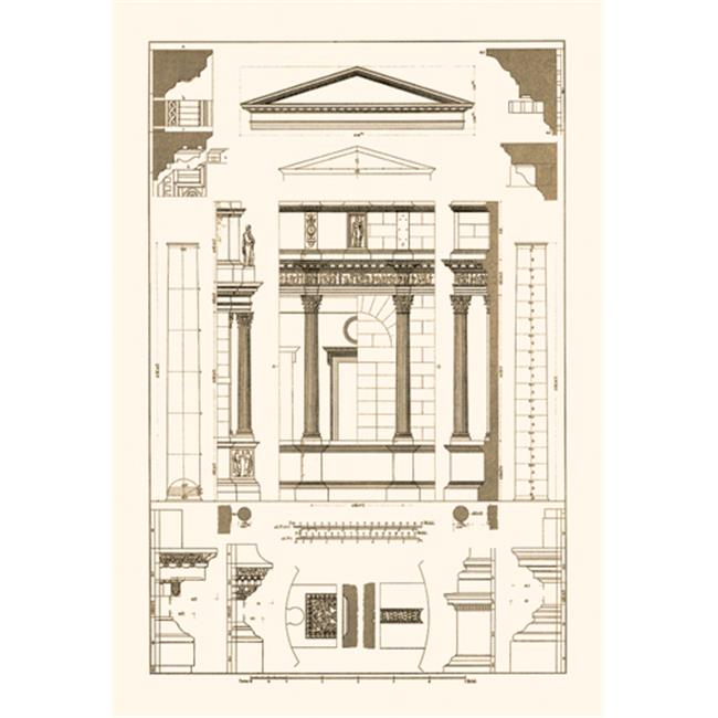 Buy Enlarge 0-587-09539-3P20x30 Pediment of Temple at Assisi- Paper Size P20x30
