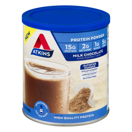 Atkins Protein Powder, Milk Chocolate, 10.23 oz - 10 servings - Meal Replacement Shake Protein Powder