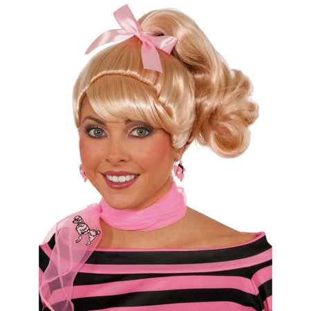 Blonde 50s Ponytail Wig for Adult - Blond Ponytail Wig