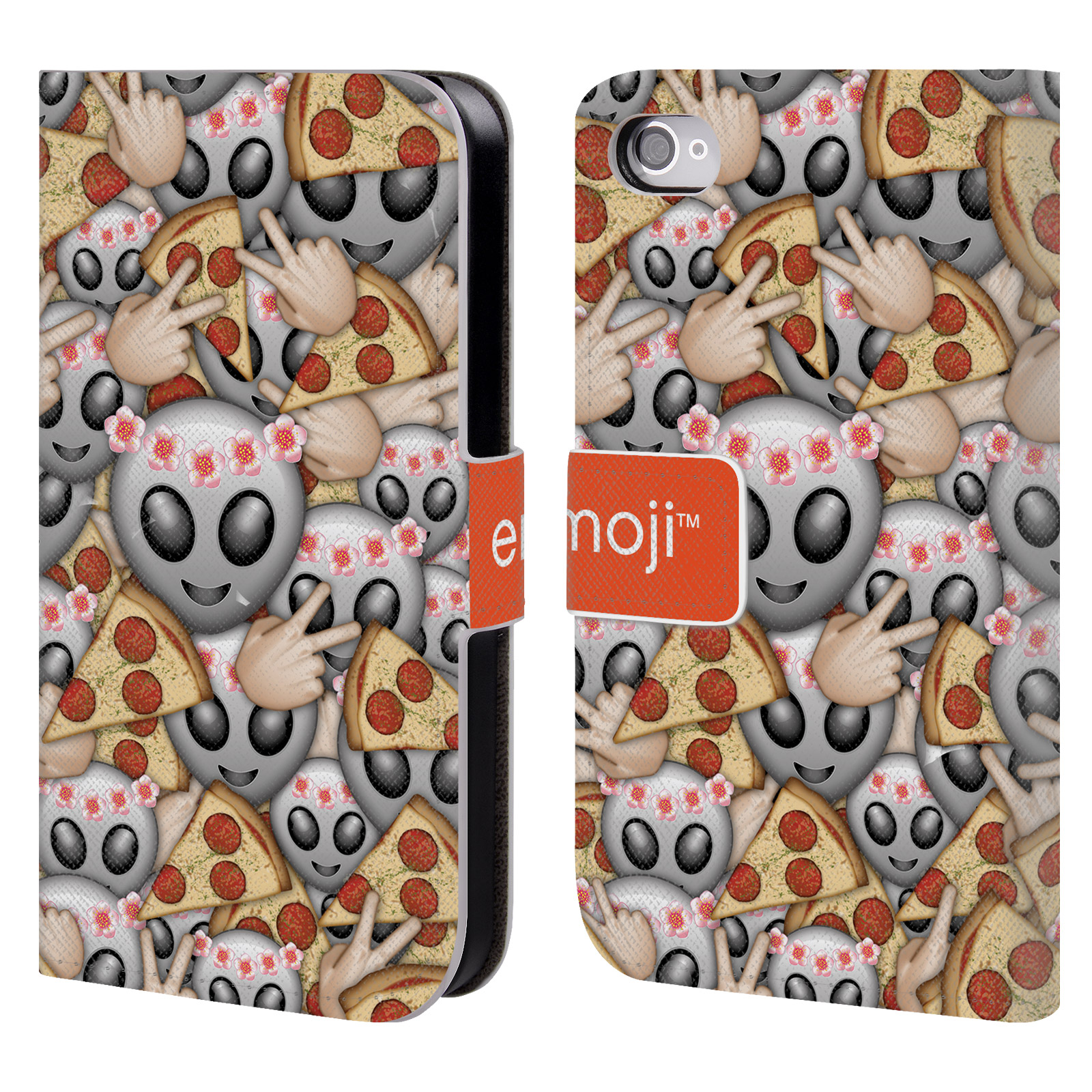 OFFICIAL EMOJI FULL PATTERNS LEATHER BOOK WALLET CASE COVER FOR APPLE IPHONE PHONES