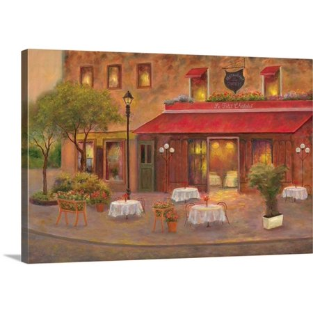 Great BIG Canvas Carol Bailey Premium Thick-Wrap Canvas entitled Dining in Paris (Dining Bib)