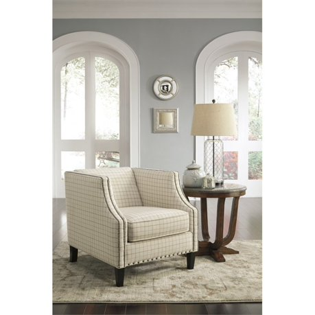 Ashley kieran accent chair in cream for Meuble ashley circulaire
