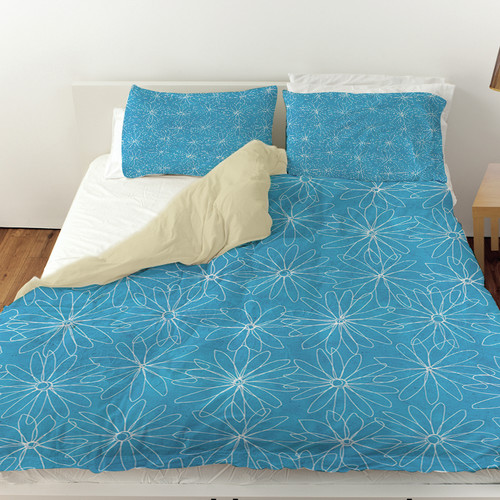 Manual Woodworkers & Weavers Funky Florals Daisy Sketch Duvet Cover