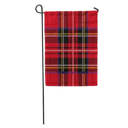 Royal Stewart Kilt - LADDKE Red Plaid Royal Stewart Tartan Pattern British Kilt Scottish Celtic Garden Flag Decorative Flag House Banner 12x18 inch
