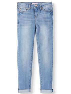 Planet Pink Rolled Cuff Skinny Jean (Big Girls)