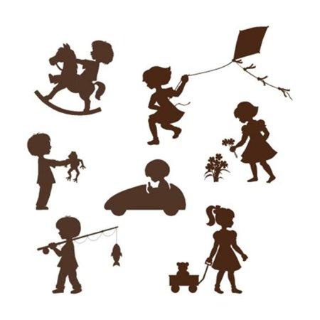 Elephants on the Wall 5-1469 Silhouette Kids - Paint It Yourself