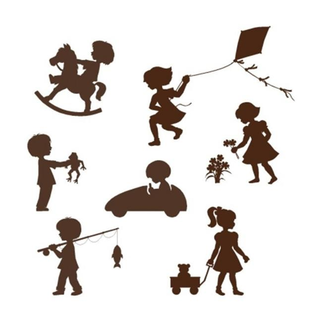 Elephants on the Wall 5-1469 Silhouette Kids - Paint It Yourself