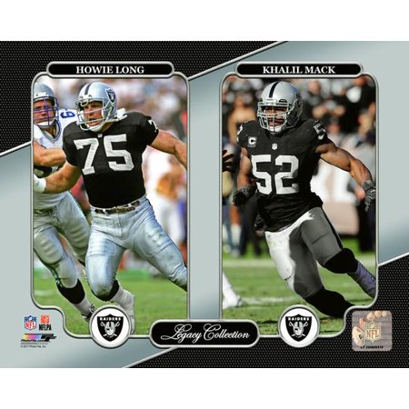 Howie Long   Khalil Mack Legacy Collection Photo Print