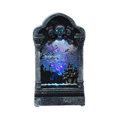 Diy Scary Halloween Decorations For Yard (Halloween Decor Luminous Scary Tombstone Ornaments Pumpkin Skull Lamp Home Party Decoration Creative DIY Tombstone Night)