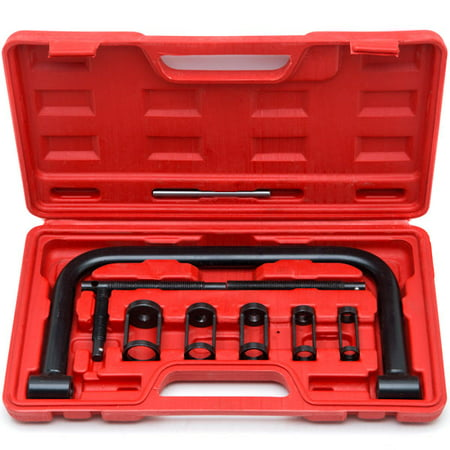 Biltek Valve Spring Compressor C Clamp Service Kit Auto Motorcycle ATV Small Engine New Heavy Duty 5 Sizes Valve Spring Compressor Pusher Tool Car & Motorcycle (Single Valve Spring Set)