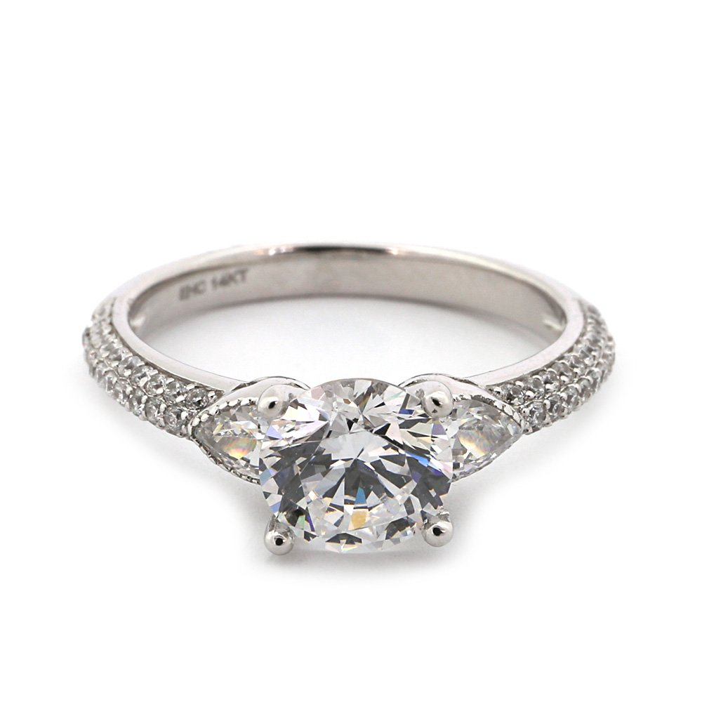 Beauniq 14k White Gold 2.1 ctw Cubic Zirconia with Accent...