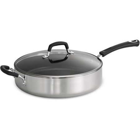 Tramontina Style 5.5-Quart Aluminum Non-stick Polished Covered Saute Pan Covered Oval Saute Pan