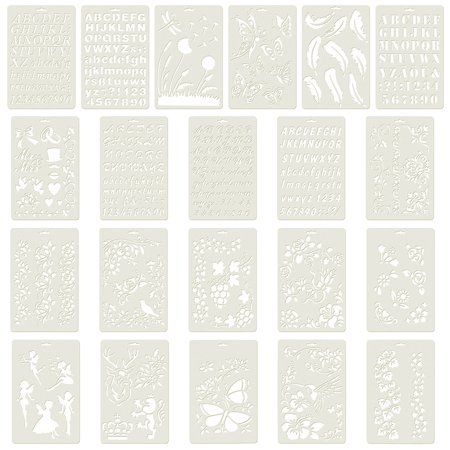 Aspire 21PCS Plastic Drawing Painting Stencil Templates for Kids Crafts, Washable Templates Set-Assorted 21PCS - Halloween Stencils To Paint