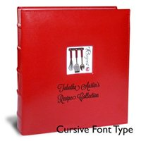Personalized A La Carte Deluxe Kitchen Binder, 11 by 12-Inch - Full Page