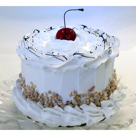 Fake Cake White Frosted Chocolate Carmel With Cherry 6 Food Decoration For Home Decor Business By Dezicakes