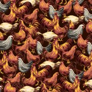 V.I.P by Cranston Roosters Home Decoration Fabric, per Yard