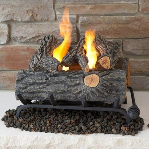 Real Flame 18 Inch Conversion Oak Log Set for Gel Fuel Fireplace