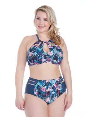 4dad2dff79742 Product Image Raisins Curve Juniors Plus Size Indo Nights Kingston High  Waist Pant Swim Bottom