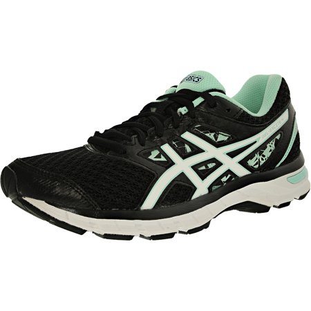 ASICS - Asics Women s Gel-Excite 4 Black White Mint Above the Knee Tennis  Shoe - 6.5W - Walmart.com 83be4a874caf6