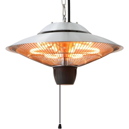 EnerG+ HEA-21524 Hanging Infrared Electric Heater, 1500W, Silver