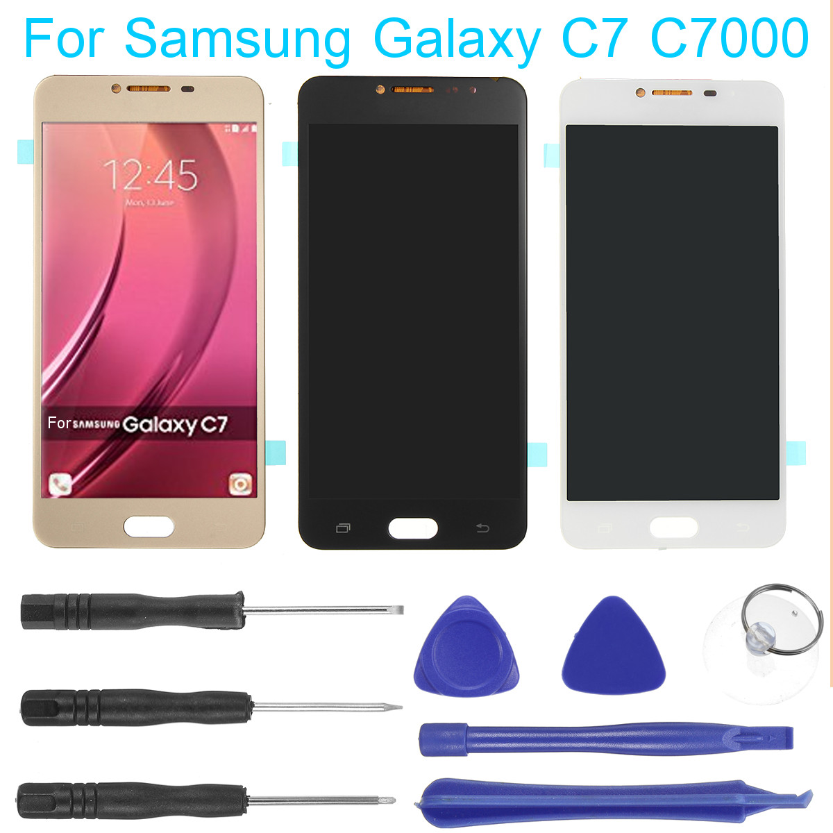 LCD Display Touch Screen Digitizer Assembly & Tools for Samsung Galaxy C7 C7000