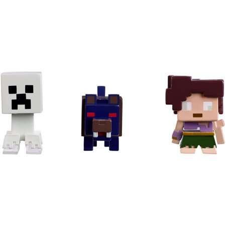 Event Halloween Minecraft (Minecraft Mini Figure Halloween Series 3-Pack Ghost Creeper, Wolfman, &)