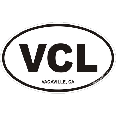 3.8 Inch Vacaville California Oval (Nut Tree Vacaville)