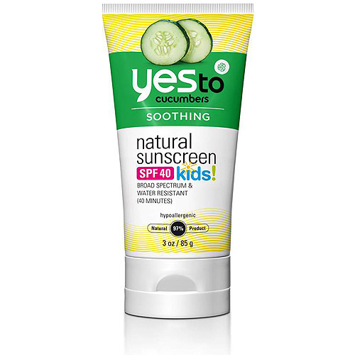 Yes to Cucumbers Kids! Natural Sunscreen, SPF 40, 3 oz