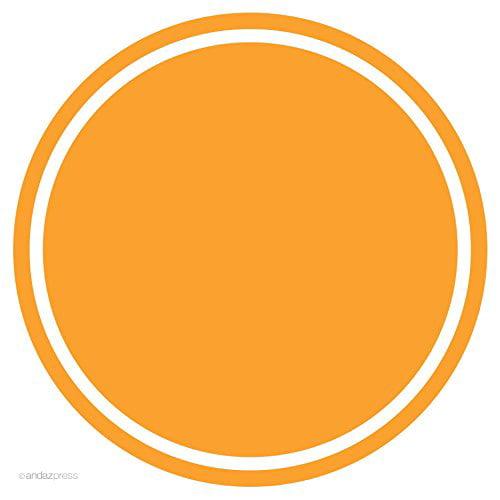 Orange Solid Color Circle Gift Labels, 40-Pack
