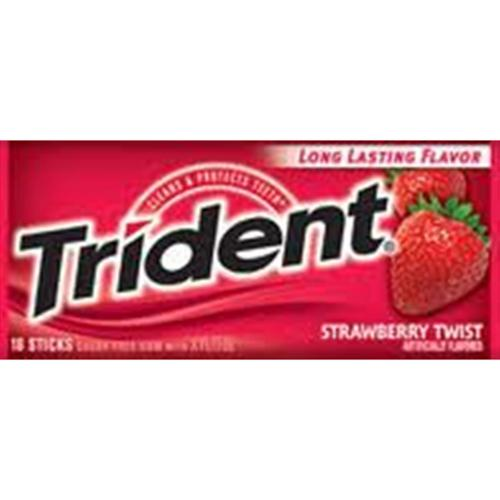 Trident Sugar Free Gum Strawberry Twist 12 pack (18 ct per pack) (Pack of 3)