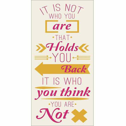 Who You Are Modern Vector Banner Inspirational Typography Yellow & Pink Canvas Art by Pied Piper Creative