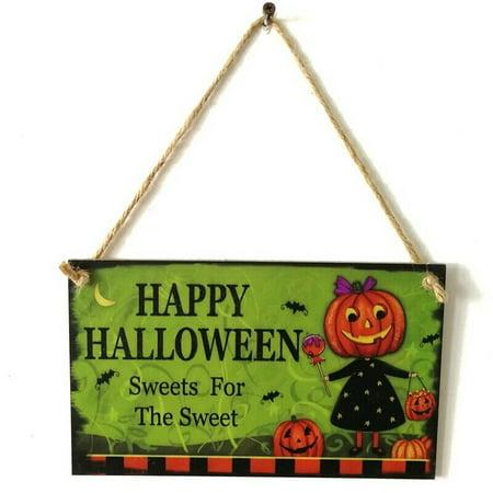 Halloween Display Board Ideas (KABOER 1Pc Wooden Happy Halloween Sign Halloween Hanging Board Festival Decor)