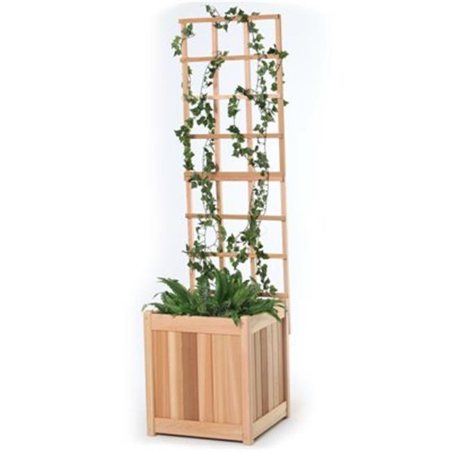 All Things Cedar PL20U-T 2pc.  Planter  with  Trellis
