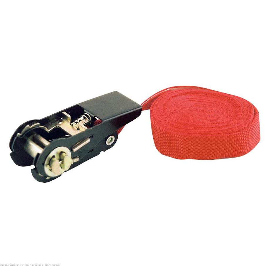 "1"" x 15' Ratcheting Lash Strap Tie Down 500 lb Red"