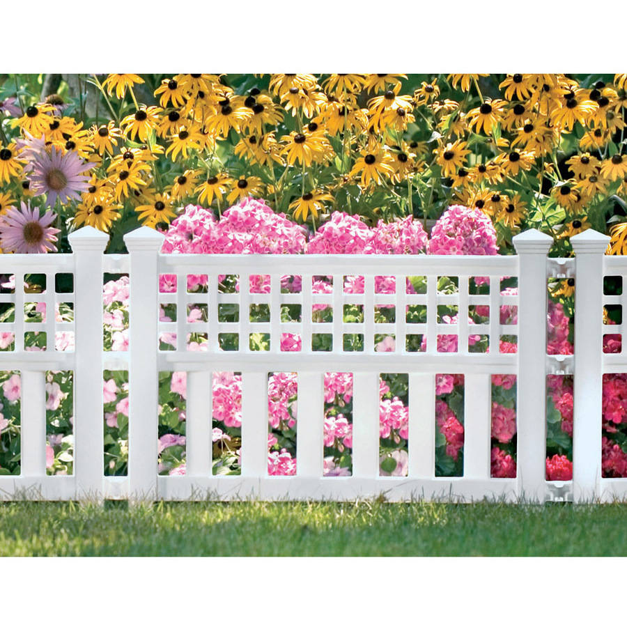 Flexible White Picket Fence Garden Border   4Pcs   Walmart.com