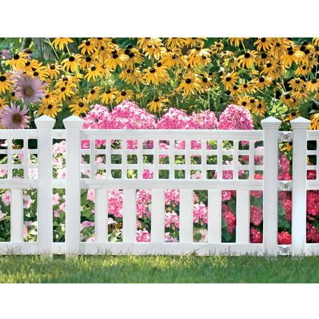 "Suncast GVF24 20.5"" x 24"" White Fence"