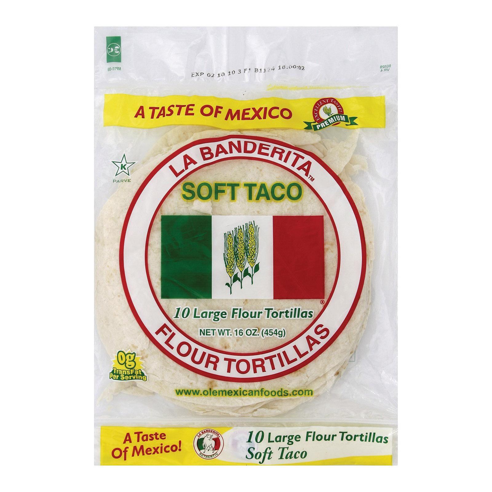 La Banderita Soft Taco - Flour - Pack of 12 - 16 Oz.