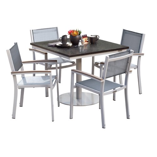 Sol 72 Outdoor Rosenfeld 5 Piece Teak Dining Set