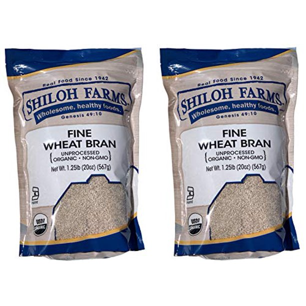 Shiloh Farms Organic Fine Wheat Bran 20 Ounce Bag Pack Of 2 An Easy And Convenient Way Of Adding Fiber To Your Diet Walmart Com Walmart Com