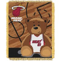 Miami Heat The Northwest Company 36'' x 46'' Baby Jaquard Throw - No Size