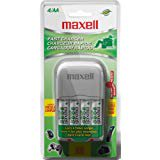 Maxell BC 300 Nickel Metal Hydride Battery Fast Charger with 4 AA 2100 mAh Batteries