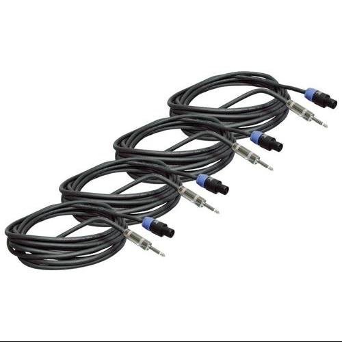 "RapcoHorizon 25' -1/4"" to Speakon Commercial Series 14AWG Speaker Cable, 4 Pack"